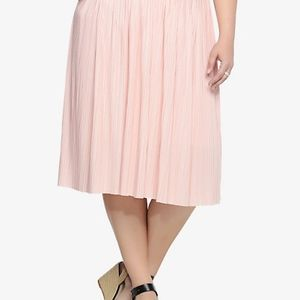 Torrid Pleated Midi Blush Pink Skirt